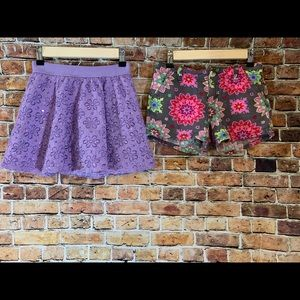 Girls Floral Skirt and Shorts Set Size 10